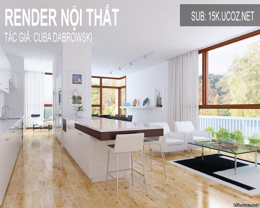 cách tạo dựng khung cảnh và ren der vray nội thất đẹp